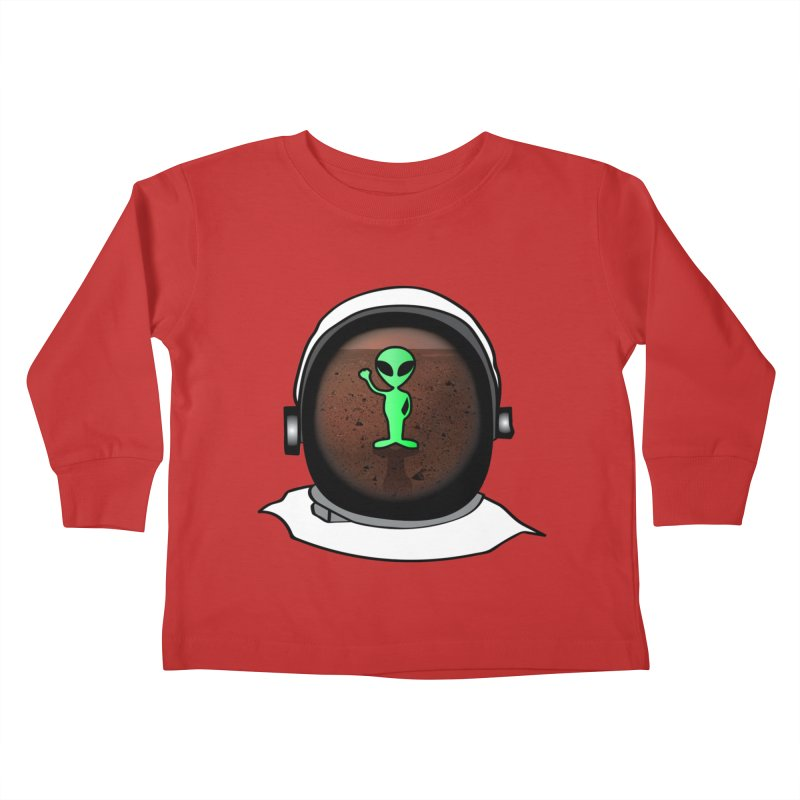 Hi nice to meet you earthling! Kids Toddler Longsleeve T-Shirt by Mirabelle Digital Art shop