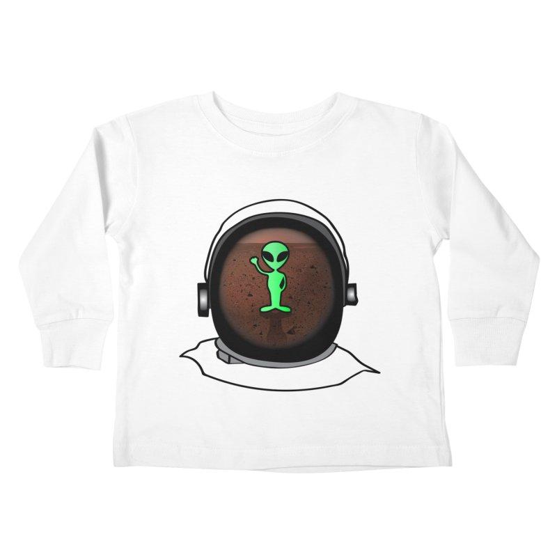 Hi nice to meet you earthling! Kids Toddler Longsleeve T-Shirt by Mirabelle Digital Art shop