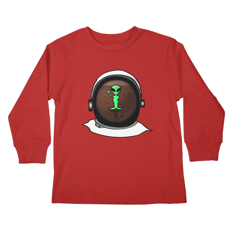 Hi nice to meet you earthling! Kids Longsleeve T-Shirt by Mirabelle Digital Art shop