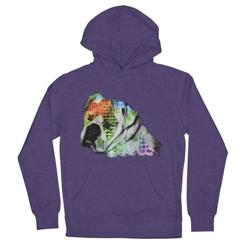 Bulldog Women's French Terry Pullover Hoody by Mirabelle Digital Art shop