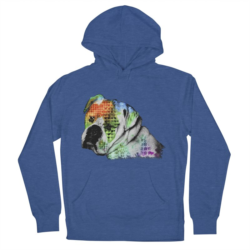 Bulldog Men's Pullover Hoody by Mirabelle Digital Art shop