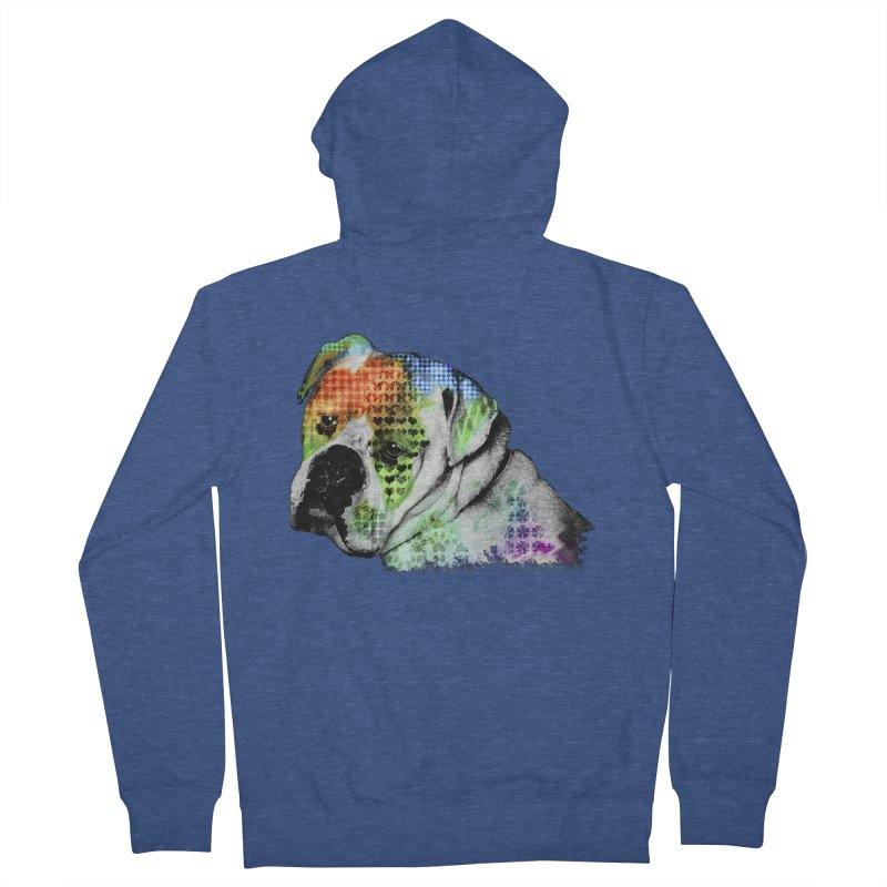 Bulldog Women's Zip-Up Hoody by Mirabelle Digital Art shop