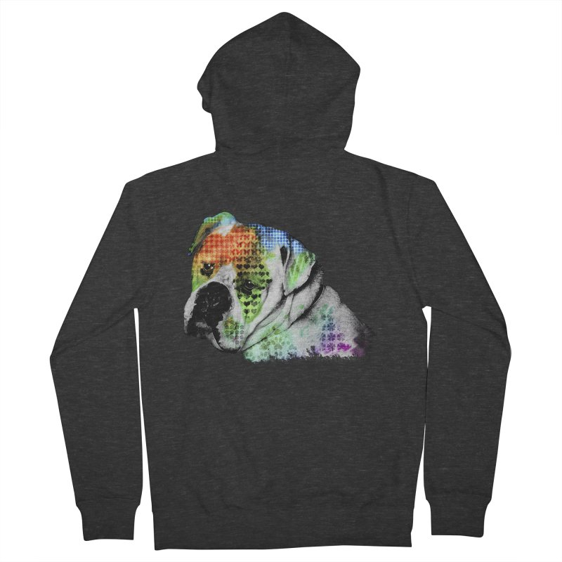 Bulldog Men's Zip-Up Hoody by Mirabelle Digital Art shop