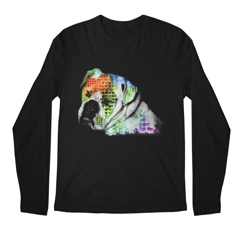Bulldog Men's Longsleeve T-Shirt by Mirabelle Digital Art shop