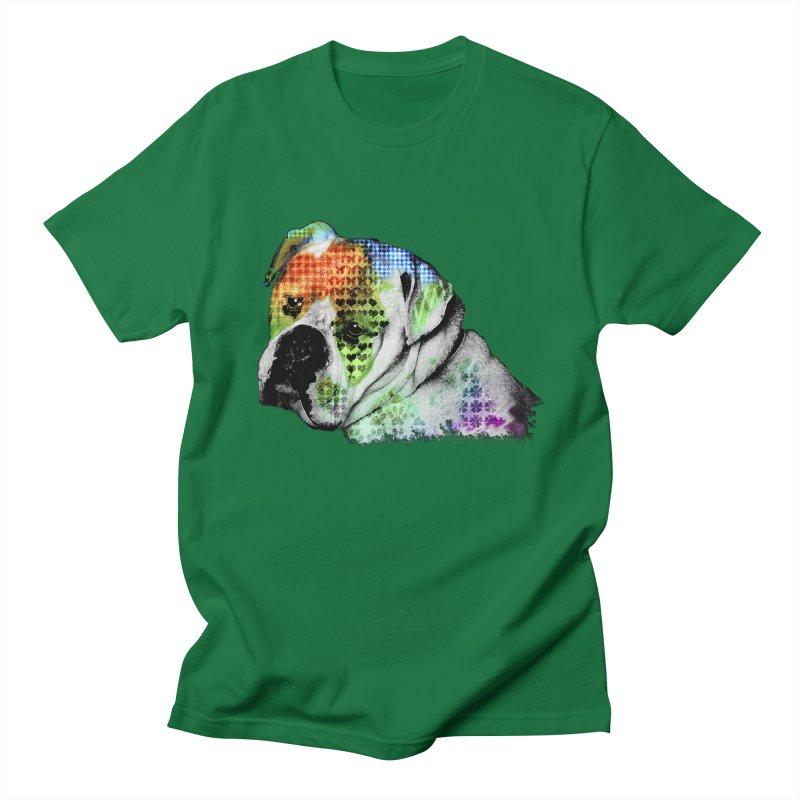 Bulldog Men's T-Shirt by Mirabelle Digital Art shop