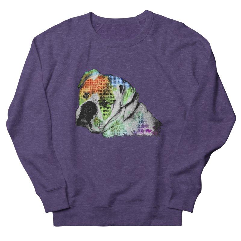 Bulldog Men's French Terry Sweatshirt by Mirabelle Digital Art shop