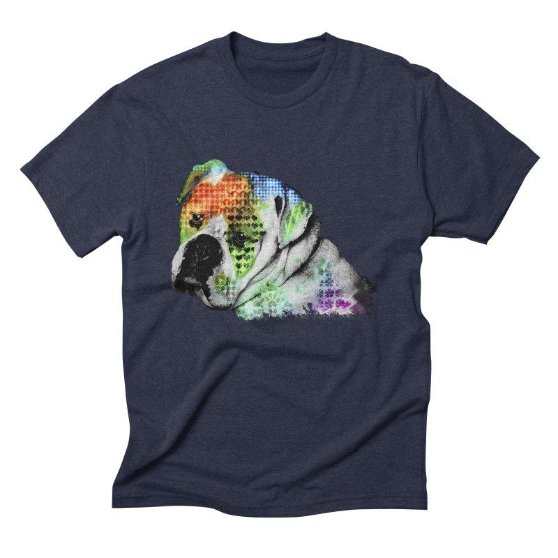 Bulldog Men's Triblend T-Shirt by Mirabelle Digital Art shop