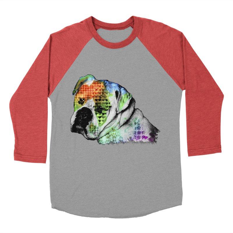 Bulldog Women's Baseball Triblend Longsleeve T-Shirt by Mirabelle Digital Art shop
