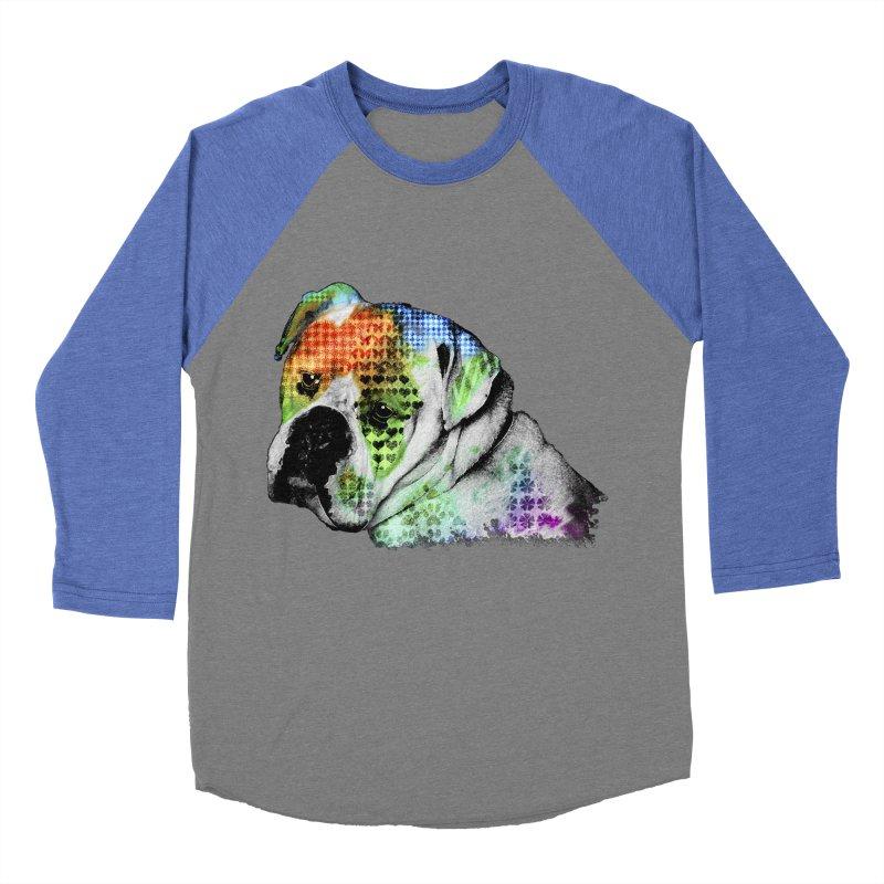 Bulldog Men's Baseball Triblend T-Shirt by Mirabelle Digital Art shop