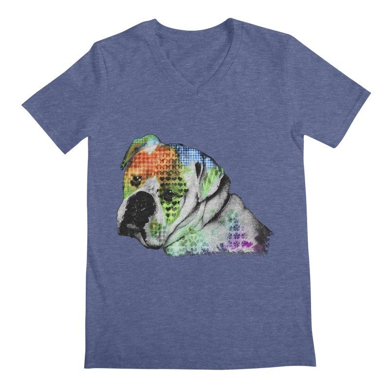 Bulldog Men's V-Neck by Mirabelle Digital Art shop