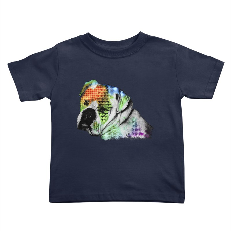 Bulldog Kids Toddler T-Shirt by Mirabelle Digital Art shop