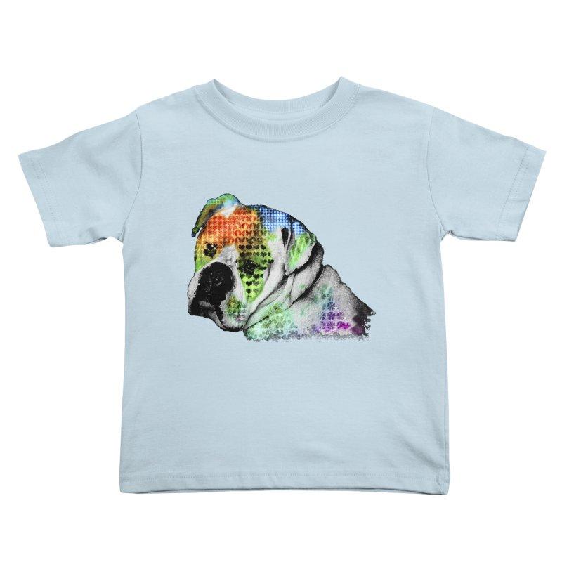Bulldog Kids Toddler T-Shirt by Mirabelle Digital Art shop