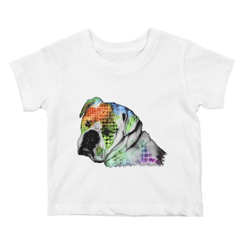 Bulldog Kids Baby T-Shirt by Mirabelle Digital Art shop