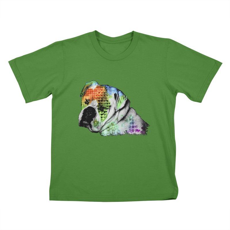 Bulldog Kids T-Shirt by Mirabelle Digital Art shop