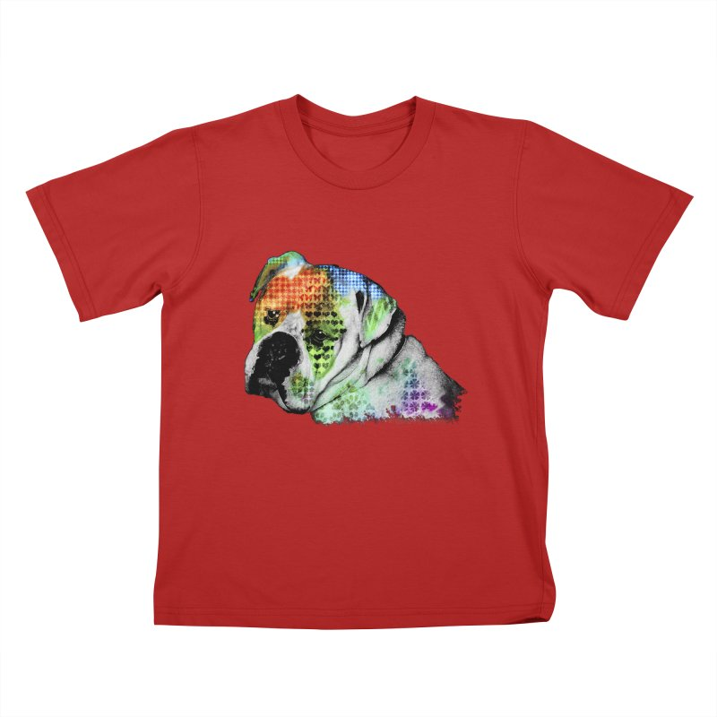 Bulldog Kids T-shirt by Mirabelle Digital Art shop
