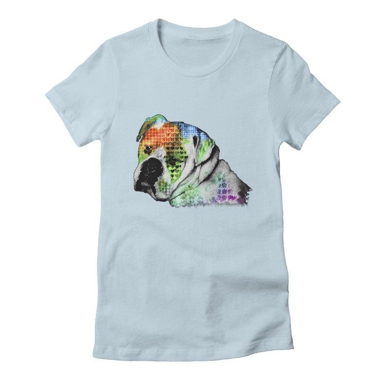 Bulldog Women's Fitted T-Shirt by Mirabelle Digital Art shop