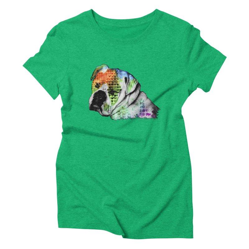 Bulldog Women's Triblend T-shirt by Mirabelle Digital Art shop