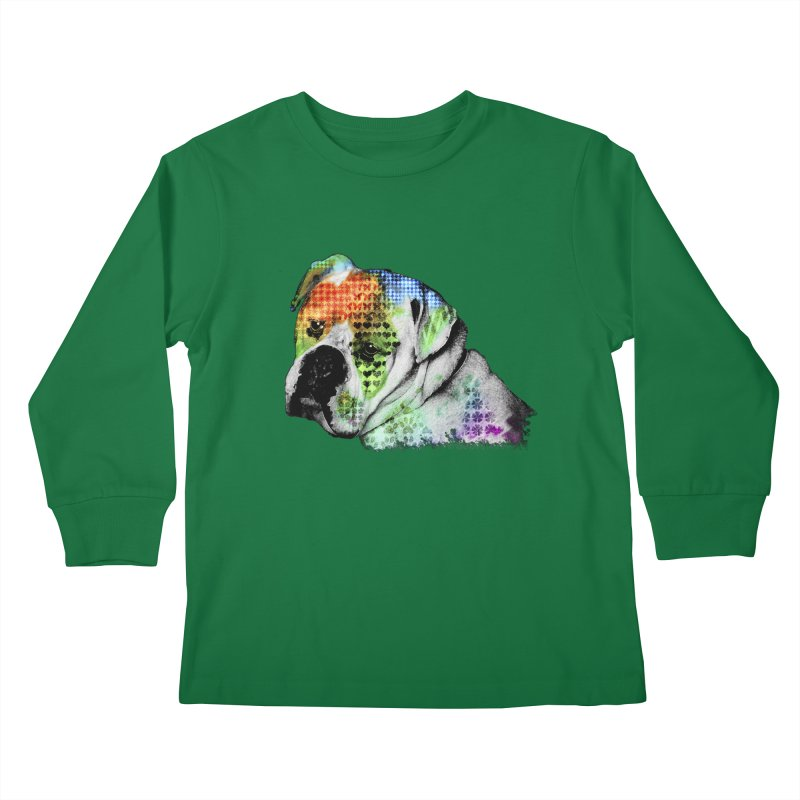 Bulldog Kids Longsleeve T-Shirt by Mirabelle Digital Art shop