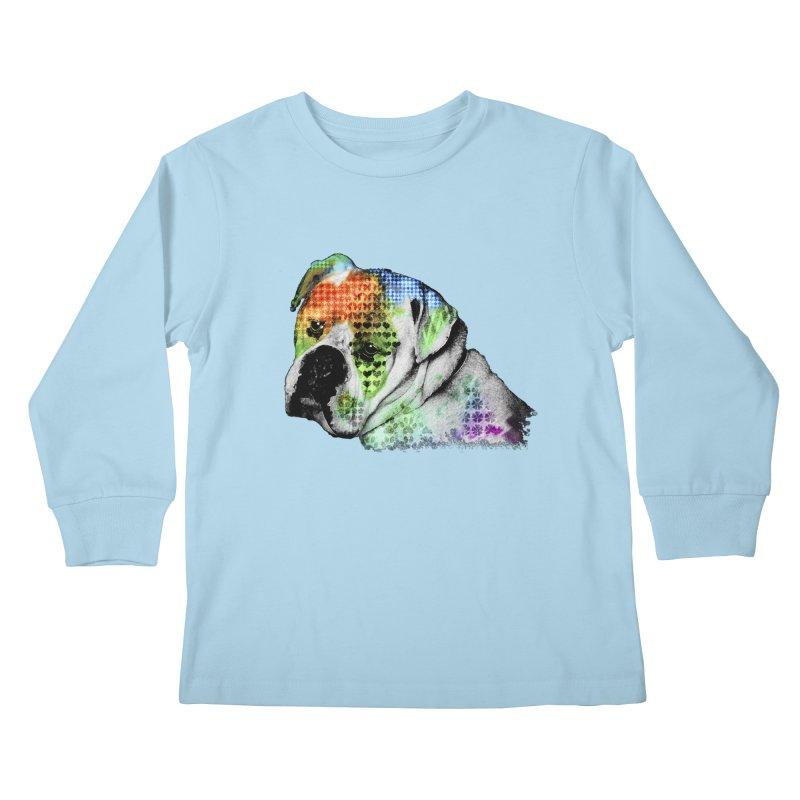 Bulldog Kids Longsleeve T-Shirt by Mirabelle Digital Art shop