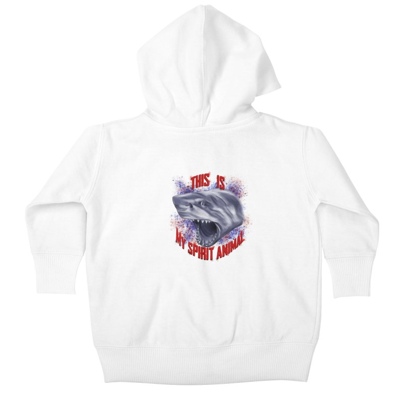 My Spirit Animal Kids Baby Zip-Up Hoody by Ben Mirabelli