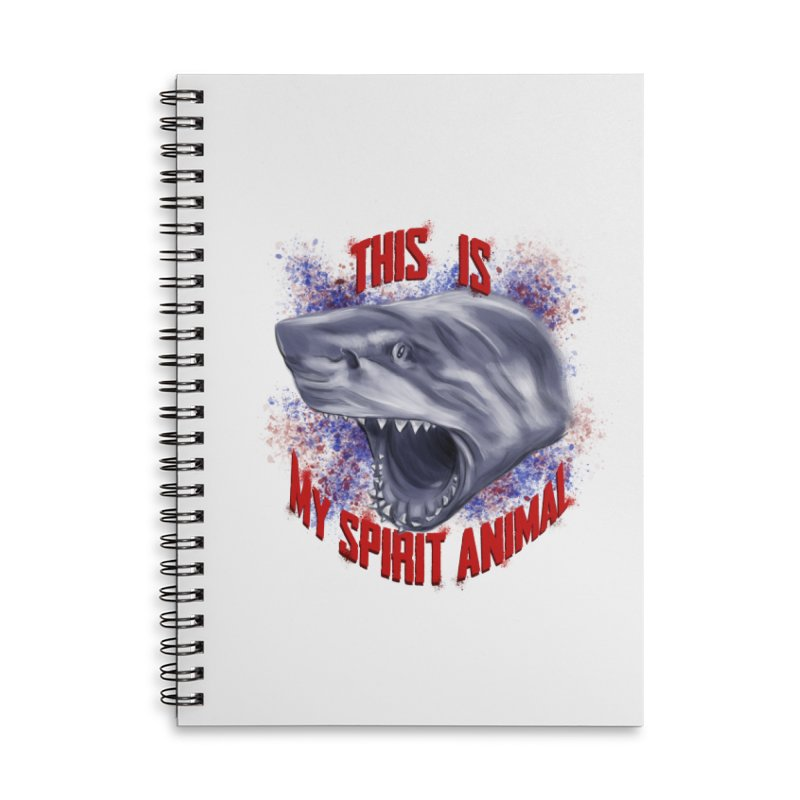 My Spirit Animal Accessories Lined Spiral Notebook by Ben Mirabelli
