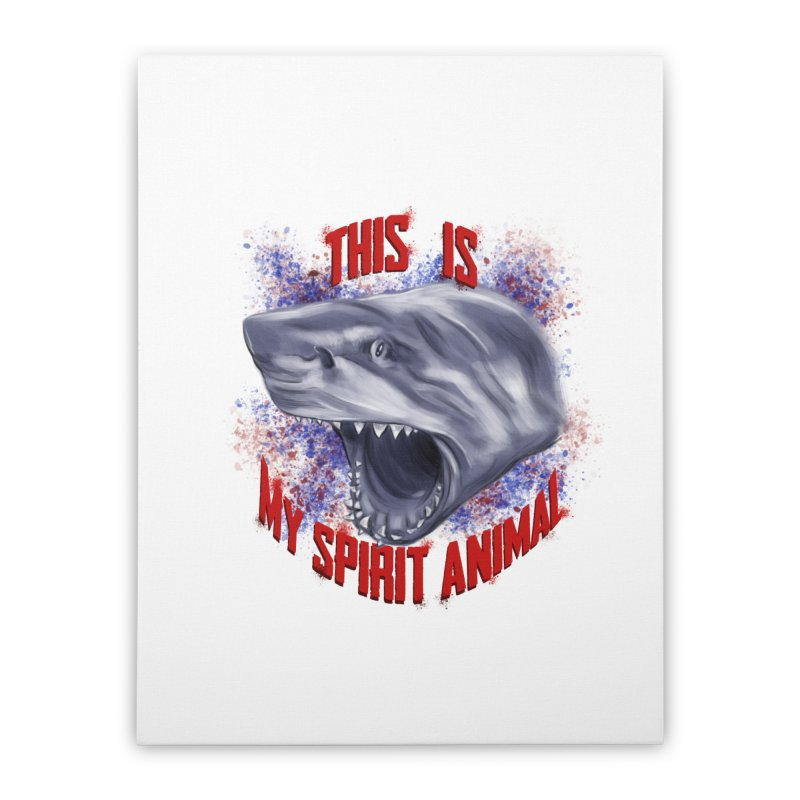 My Spirit Animal Home Stretched Canvas by Ben Mirabelli