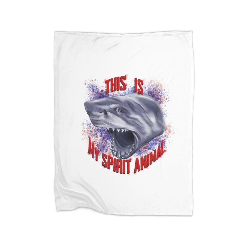 My Spirit Animal Home Fleece Blanket Blanket by Ben Mirabelli