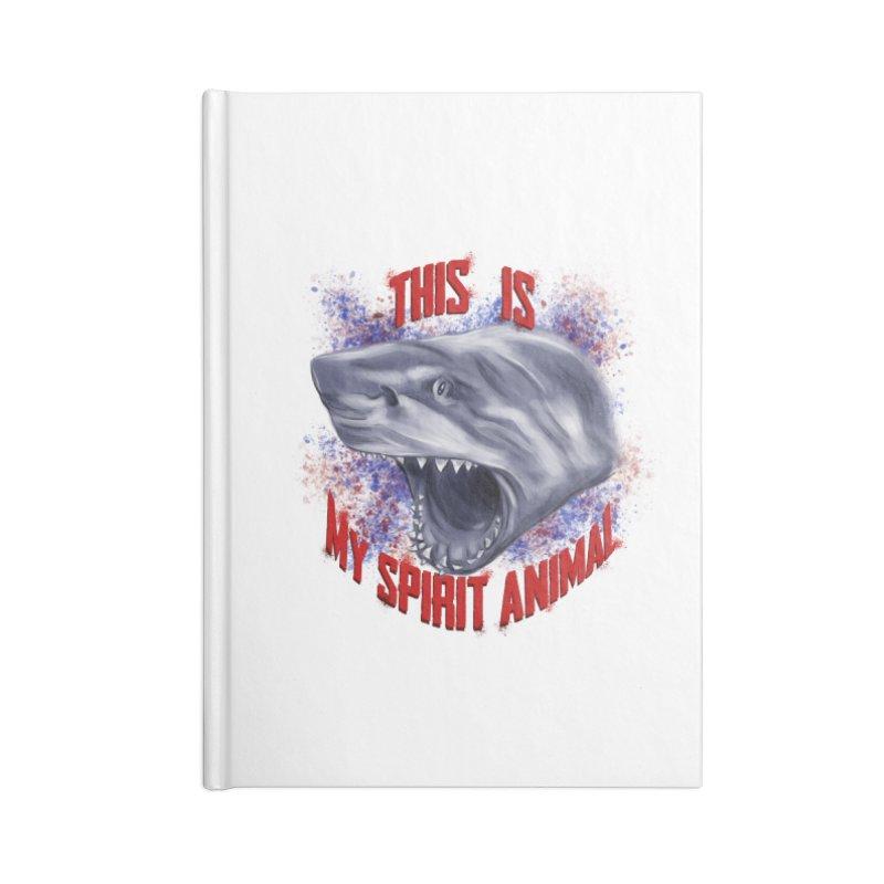 My Spirit Animal Accessories Blank Journal Notebook by Ben Mirabelli