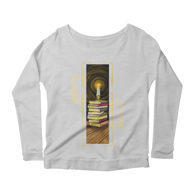 Books Women's Scoop Neck Longsleeve T-Shirt by Ben Mirabelli