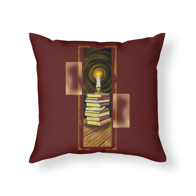 Books Home Throw Pillow by Ben Mirabelli