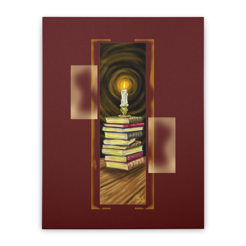 Books Home Stretched Canvas by Ben Mirabelli