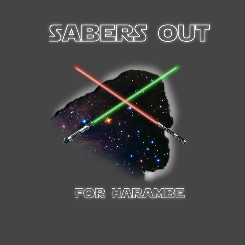 Sabers out for Harambe by mirabellistudios's Artist Shop
