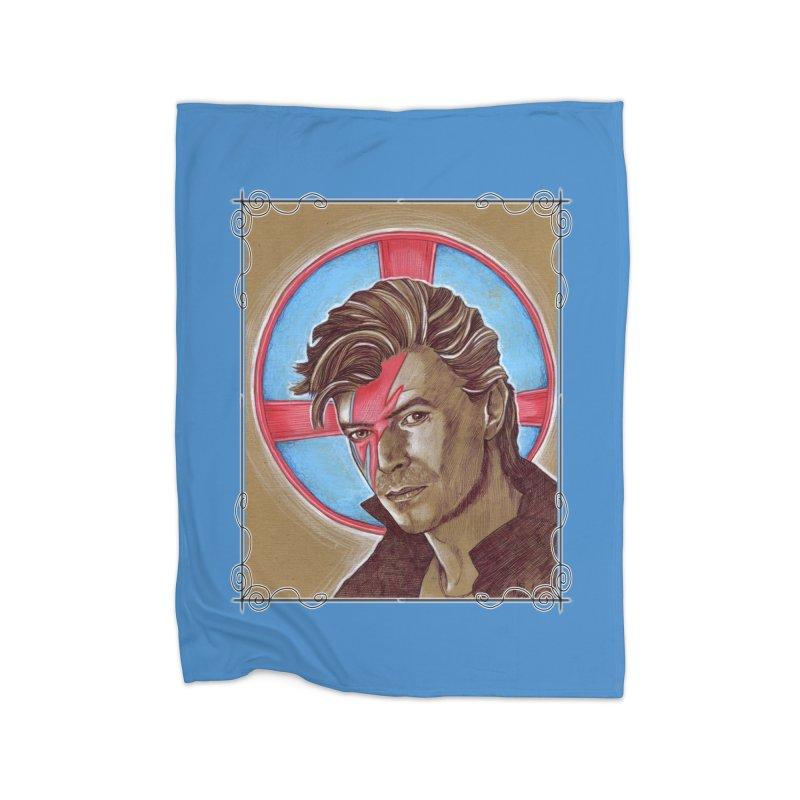 Starman Home Fleece Blanket Blanket by Ben Mirabelli