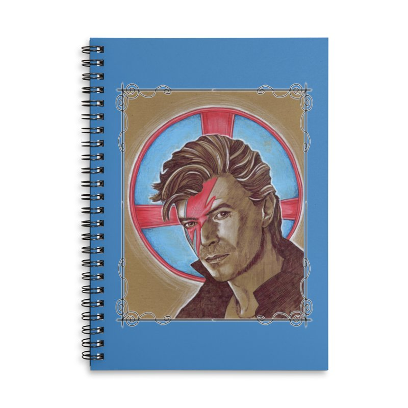 Starman Accessories Lined Spiral Notebook by Ben Mirabelli