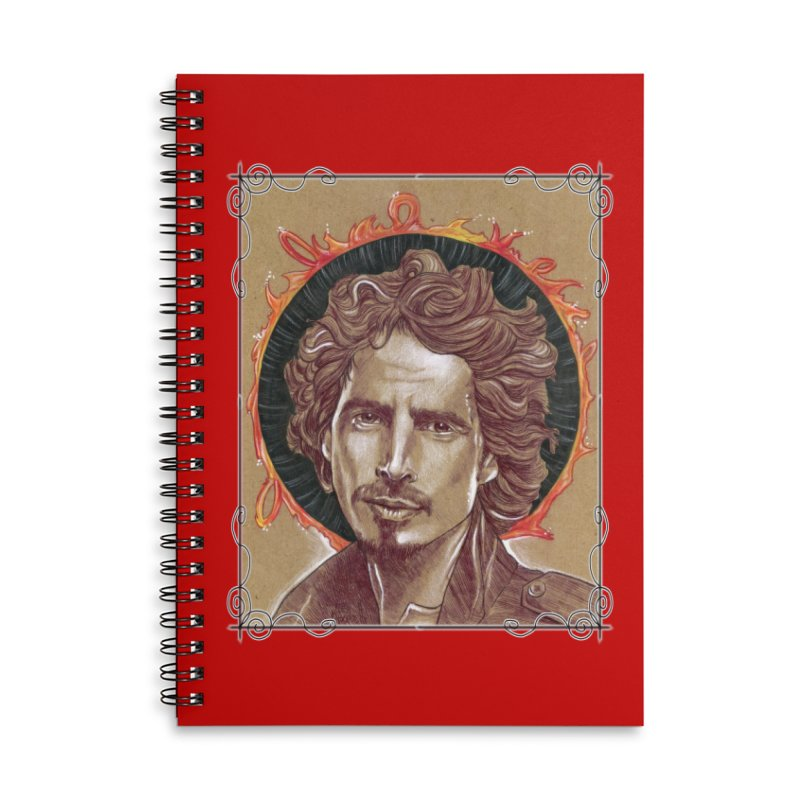 Black Hole Sun Accessories Lined Spiral Notebook by Ben Mirabelli