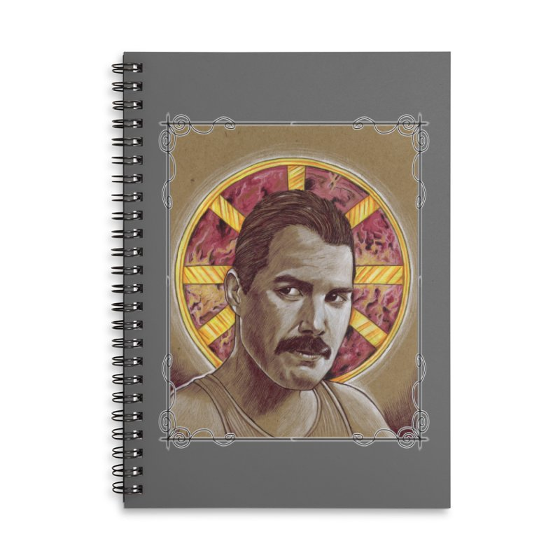 Mercury Accessories Lined Spiral Notebook by Ben Mirabelli
