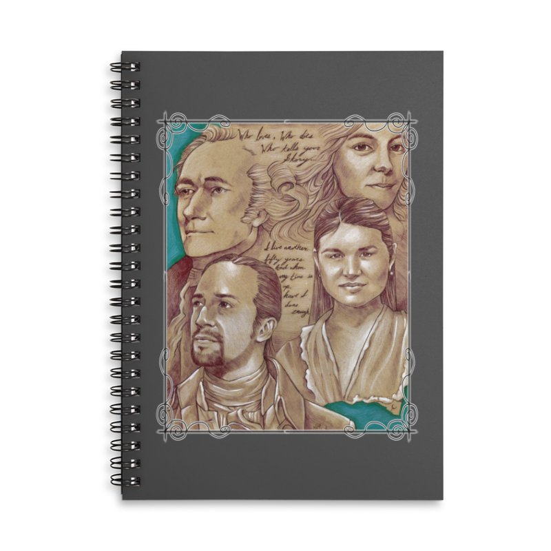 Who lives, who dies, who tells your story... Accessories Lined Spiral Notebook by Ben Mirabelli