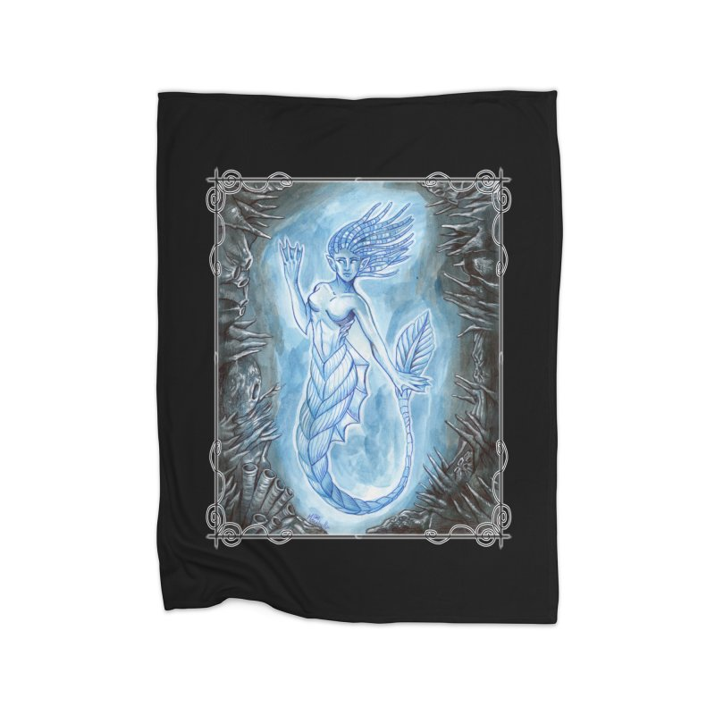 Deep Sea Mermaid Home Fleece Blanket Blanket by Ben Mirabelli