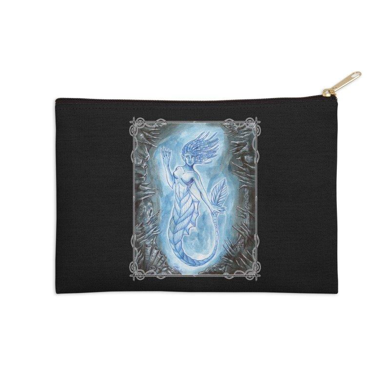 Deep Sea Mermaid Accessories Zip Pouch by Ben Mirabelli