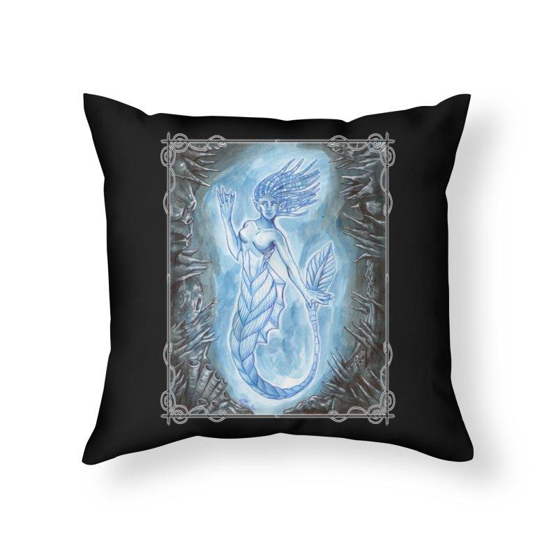 Deep Sea Mermaid Home Throw Pillow by Ben Mirabelli