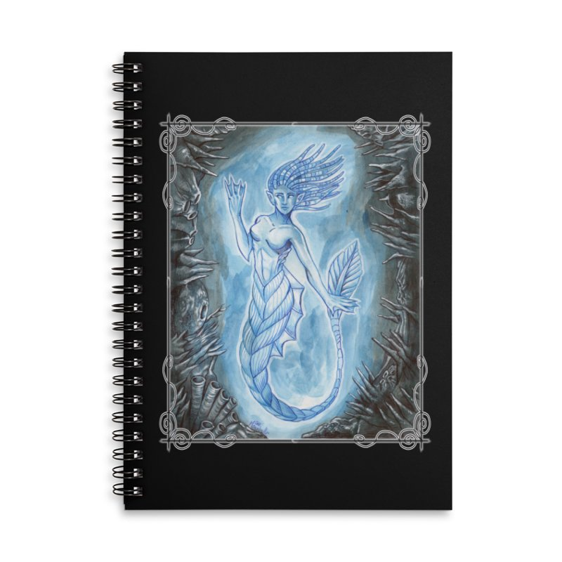 Deep Sea Mermaid Accessories Lined Spiral Notebook by Ben Mirabelli