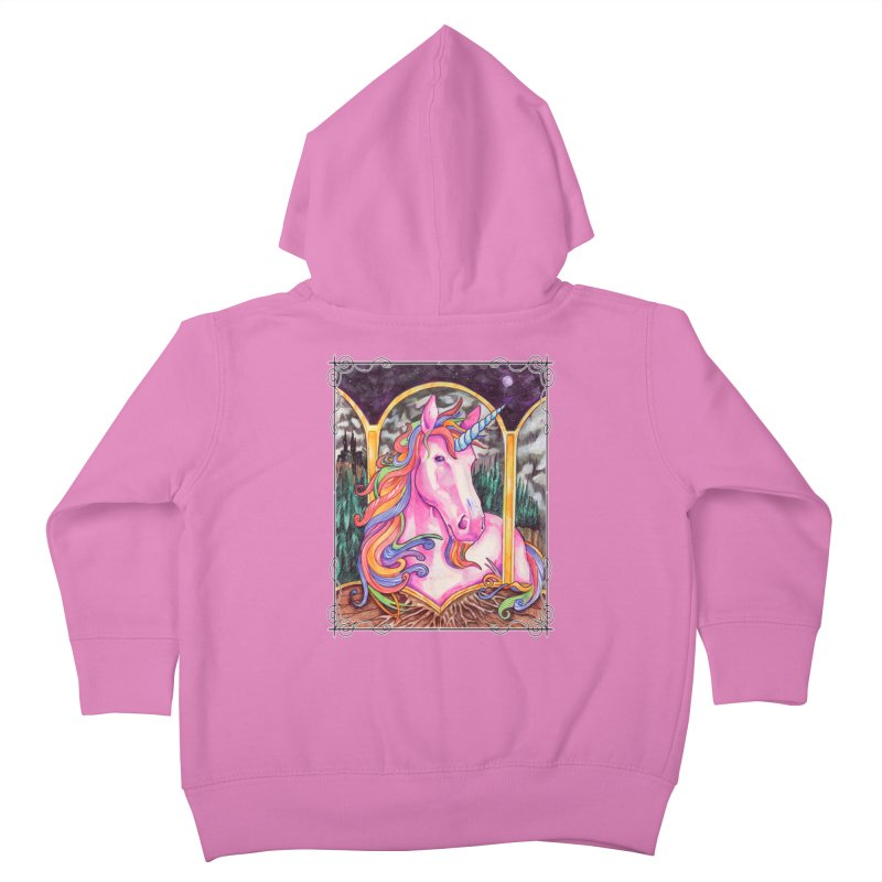 Unicorn Kids Toddler Zip-Up Hoody by Ben Mirabelli