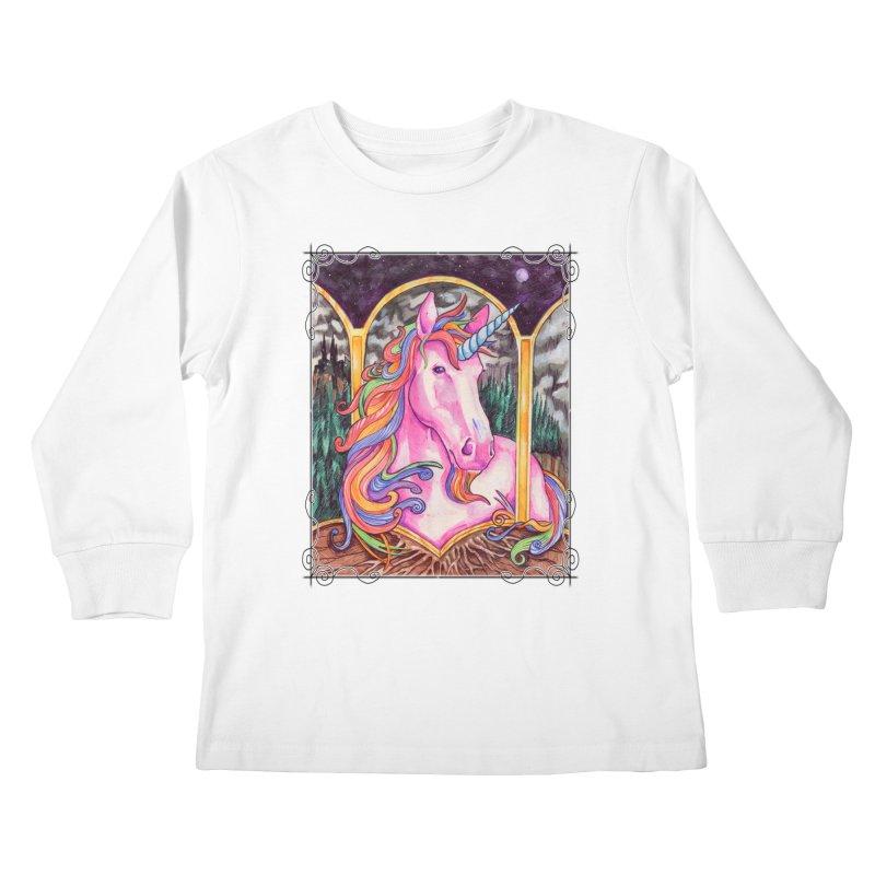 Unicorn Kids Longsleeve T-Shirt by Ben Mirabelli