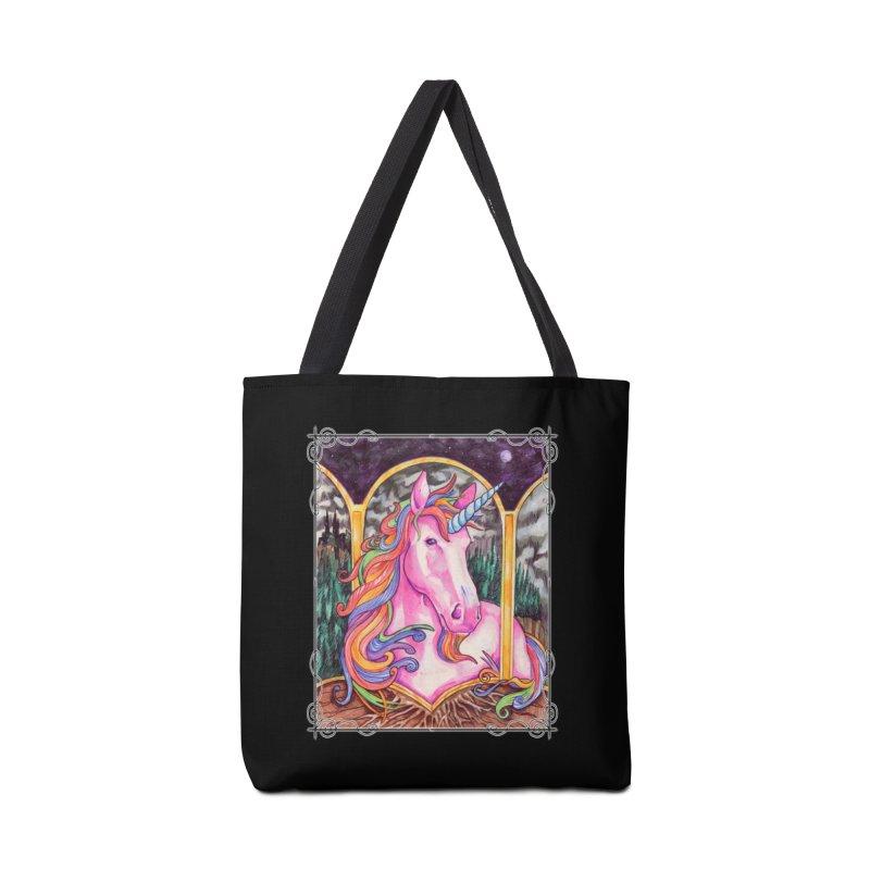 Unicorn Accessories Tote Bag Bag by Ben Mirabelli