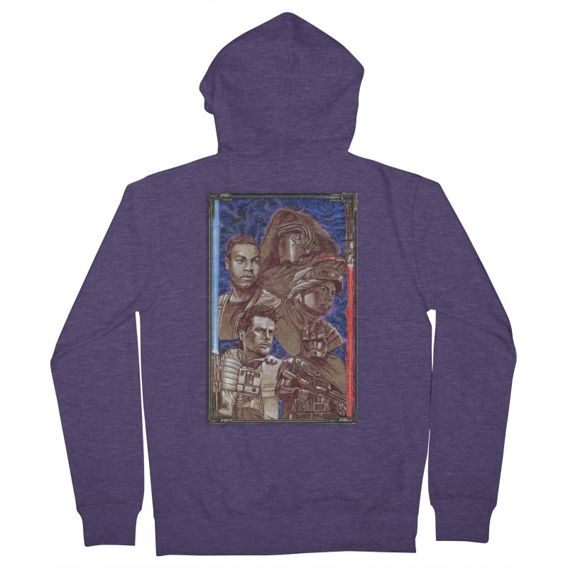 The Force Awakens Men's French Terry Zip-Up Hoody by Ben Mirabelli