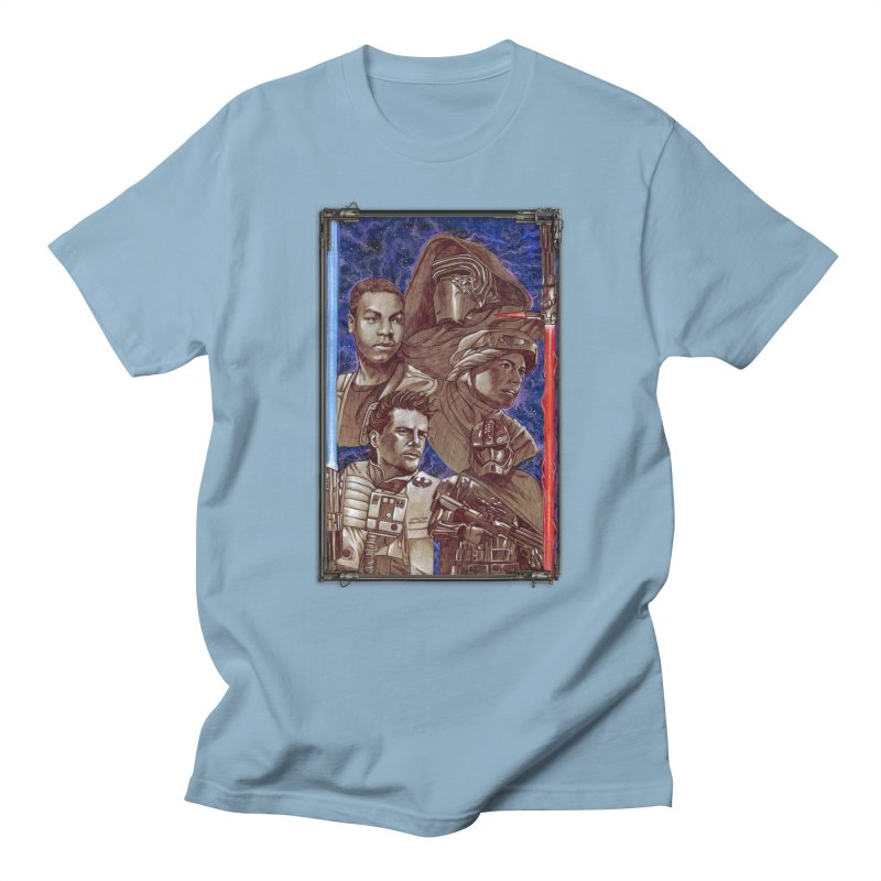 The Force Awakens Men's Regular T-Shirt by Ben Mirabelli