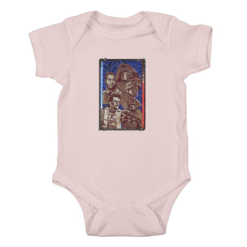 The Force Awakens Kids Baby Bodysuit by Ben Mirabelli