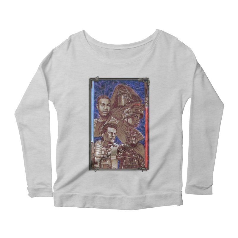 The Force Awakens Women's Scoop Neck Longsleeve T-Shirt by Ben Mirabelli