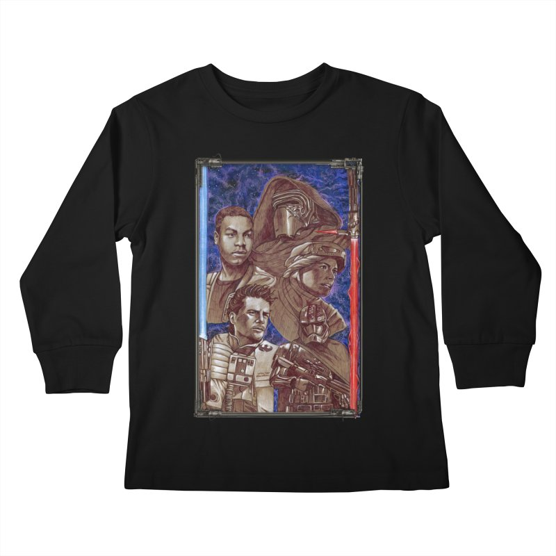 The Force Awakens Kids Longsleeve T-Shirt by Ben Mirabelli