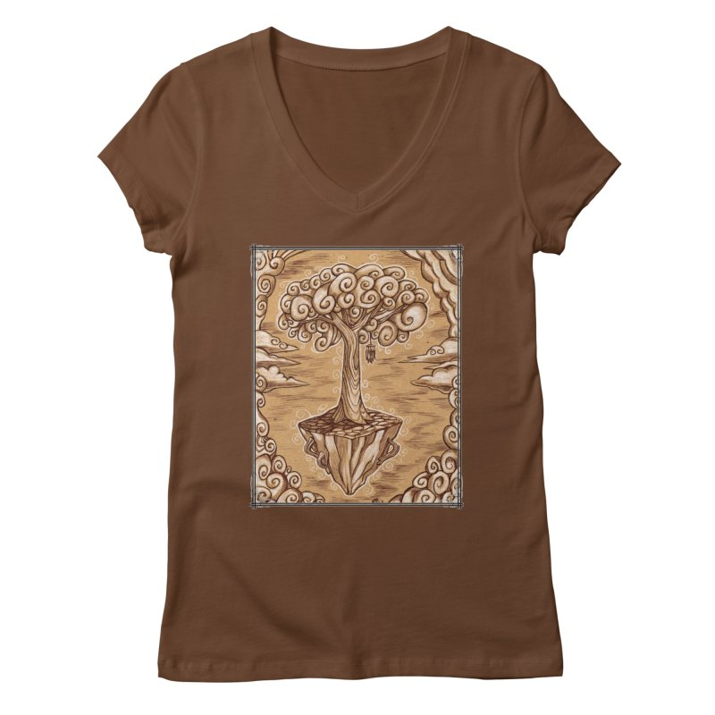 Air Tree Women's Regular V-Neck by Ben Mirabelli